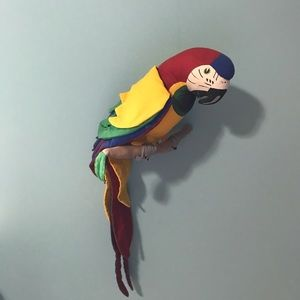 None Accents - Colorful Stuffed Parrot